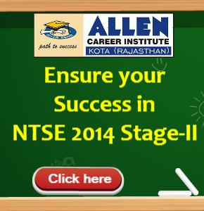 NTSE 2014 Stage 2- ALLEN