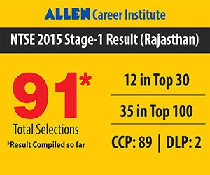 NTSE Stage-1 Results 2015