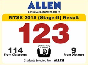 ALLEN NTSE Stage-II Result 2015