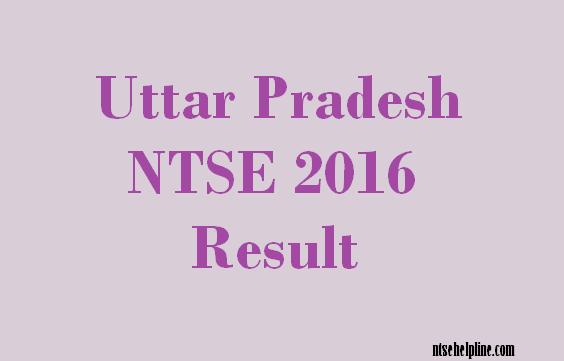 Uttar Pradesh NTSE 2016 Result