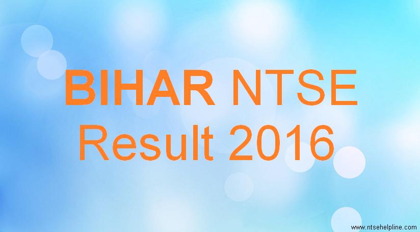 Bihar NTSE 2016
