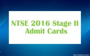 NTSE 2016 Admit Cards