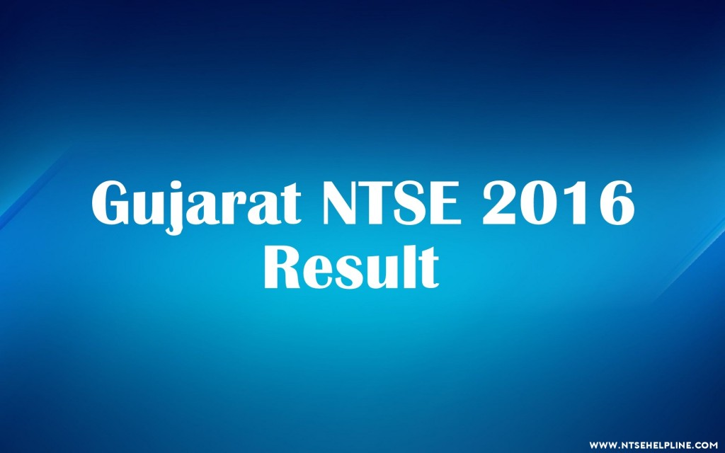 NTSE Exam 2016 Results