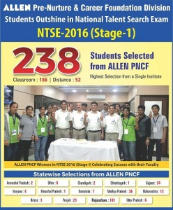 NTSE RESULT STAGE-1 16X25