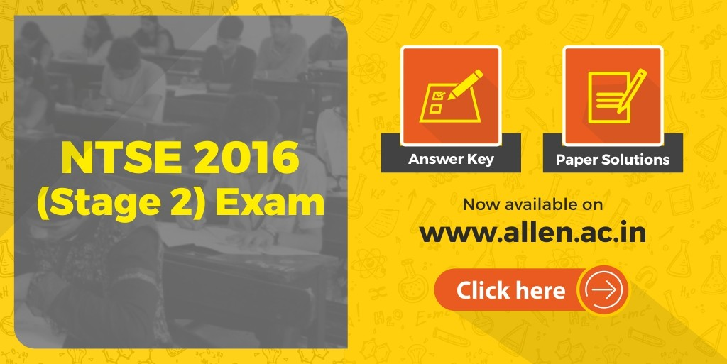 NTSE 2016 answer key