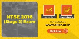 NTSE 2016 answer key