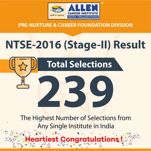 ALLEN Rocks in NTSE Stage-1 Result 2015